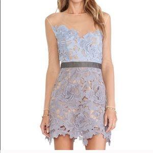 Blue & Lilac Self Portrait Harmony Lace Dress